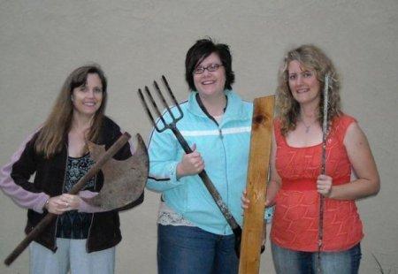 Me, Elana Johnson and Suzette Saxton