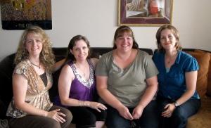 Suzette Saxton, me, Michelle Mclean, Bethany Wiggins