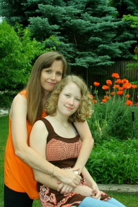Suzette's sister is a photographer, so she snapped some shots of me and my daughter.